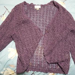Lavender crochet cardigan